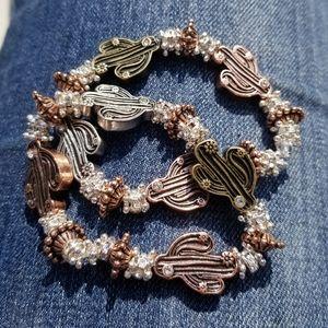 Tricolor Cactus Bracelet